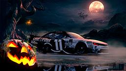 NASCAR xfinity Chevy Camaro number 11 Halloween Theme