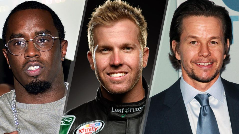 Celebs P-Diddy, Marky Mark ride with XFINITY driver Blake Koch
