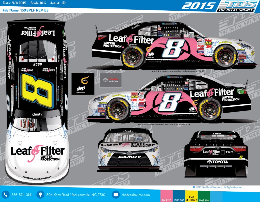 LeafFilter Racing for Breast Cancer Awareness