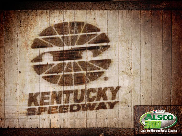 Kentucky Speedway Wood Burned Image