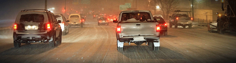 Know how to handle your car in bad weather, like these icy conditions