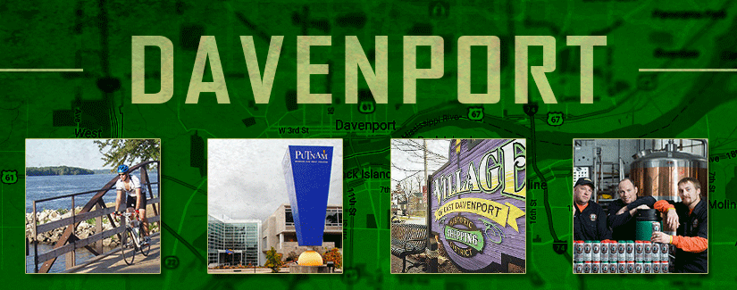 Make a pit stop in Davenport, IA